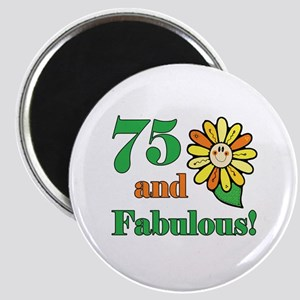Fabulous 75th Birthday Magnet