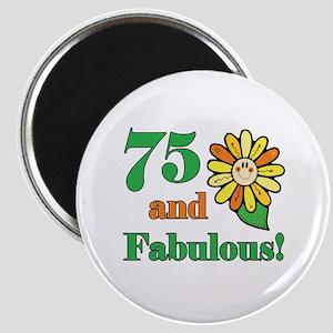 Fabulous 75th Birthday Magnet
