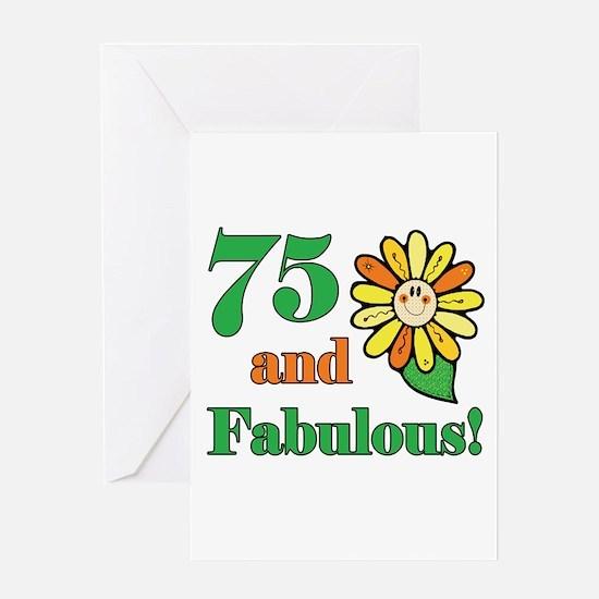 Fabulous 75th Birthday Greeting Card