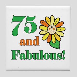 Fabulous 75th Birthday Tile Coaster