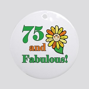 Fabulous 75th Birthday Ornament (Round)