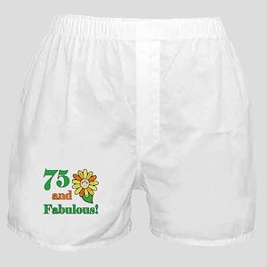 Fabulous 75th Birthday Boxer Shorts