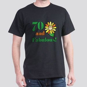 Fabulous 70th Birthday Dark T-Shirt