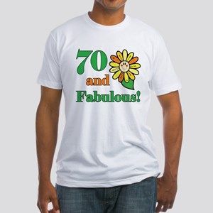 Fabulous 70th Birthday Fitted T-Shirt