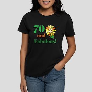 Fabulous 70th Birthday Women's Dark T-Shirt