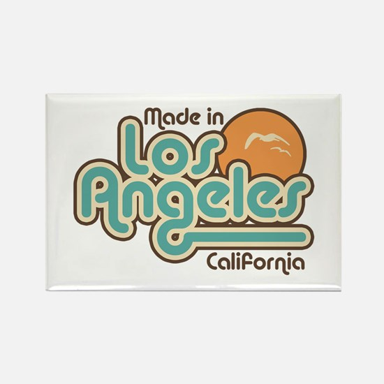 Made In Los Angeles Rectangle Magnet