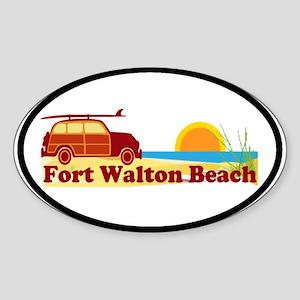 Fort Walton Beach FL Oval Sticker