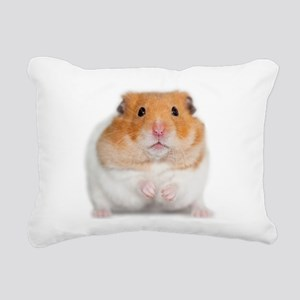 Chunk the Hamster Rectangular Canvas Pillow