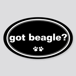 Got Beagle? Oval Sticker