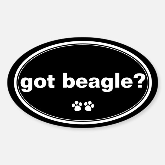 Got Beagle? Oval Decal