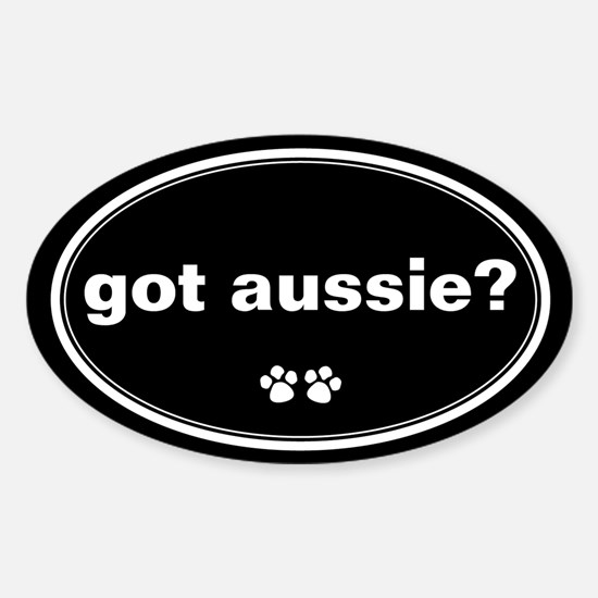 Got Aussie? Oval Stickers