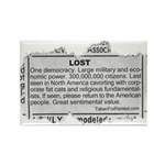 Lost Democracy. Please return Rectangle Magnet
