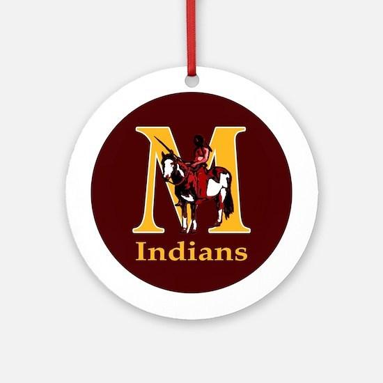 Millersburg Indians Ornament (Round)