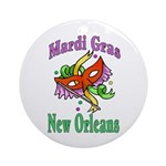 Mardi Gras New Orleans Ornament (Round)