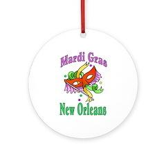 Mardi Gras New Orleans Ornament (Round)