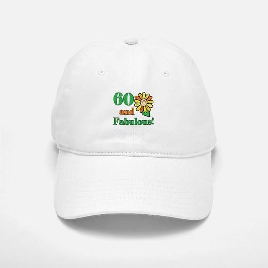 Fabulous 60th Birthday Baseball Baseball Cap