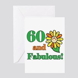 Fabulous 60th Birthday Greeting Card