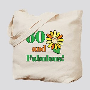 Fabulous 60th Birthday Tote Bag