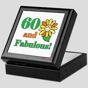 Fabulous 60th Birthday Keepsake Box