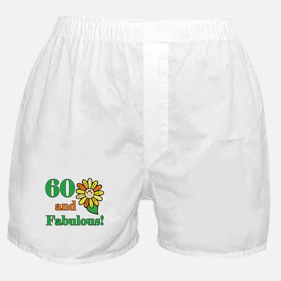 Fabulous 60th Birthday Boxer Shorts