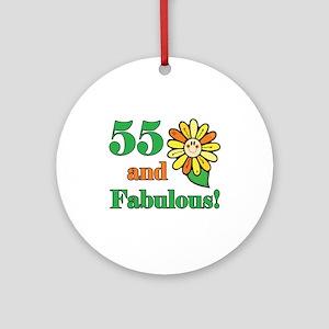 Fabulous 55th Birthday Ornament (Round)