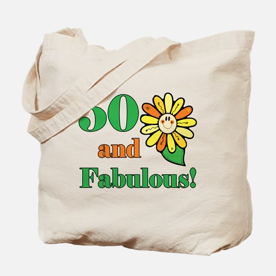 Fabulous 50th Birthday Tote Bag