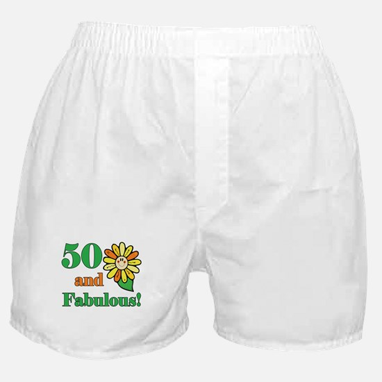 Fabulous 50th Birthday Boxer Shorts