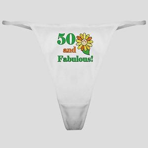 Fabulous 50th Birthday Classic Thong