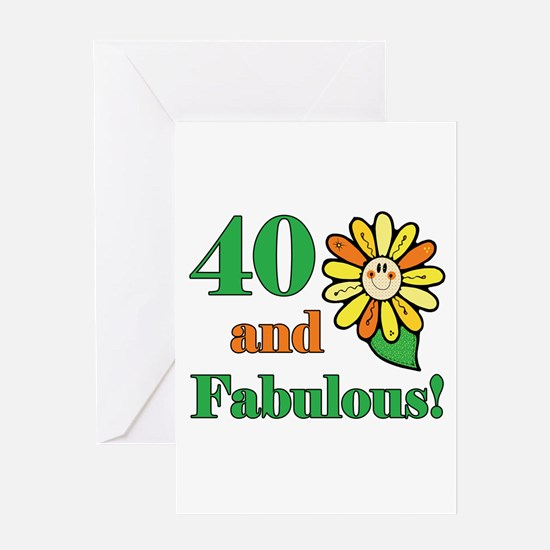 Fabulous 40th Birthday Greeting Card