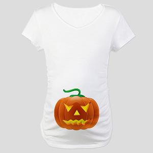 Halloween Pumpkin Maternity T-Shirt