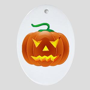 Halloween Pumpkin Ornament (Oval)