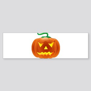 Halloween Pumpkin Sticker (Bumper)