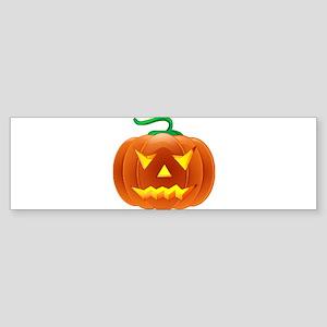 Halloween Pumpkin Sticker (Bumper)