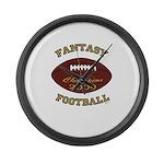 Fantasy Football Champion 2009 Large Wall Clock