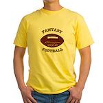 2010 Fantasy Football Champion Yellow T-Shirt
