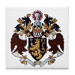 American College of Heraldry Tile Coaster