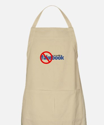 """Just Say NO"" Fakebook BBQ Apron"