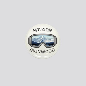 Mt. Zion Ski Area - Ironwood - Michi Mini Button