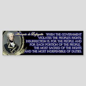 Marquis de Lafayette on Insurrection Sticker (Bump