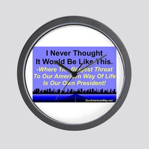 """""""Our Biggest Threat"""" Wall Clock"""