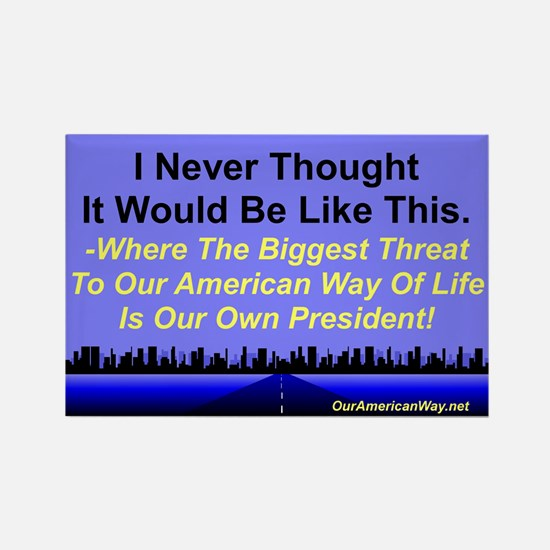 """Our Biggest Threat"" Rectangle Magnet (100 pack)"