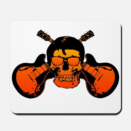 Rockabilly Guitar Skull Mousepad