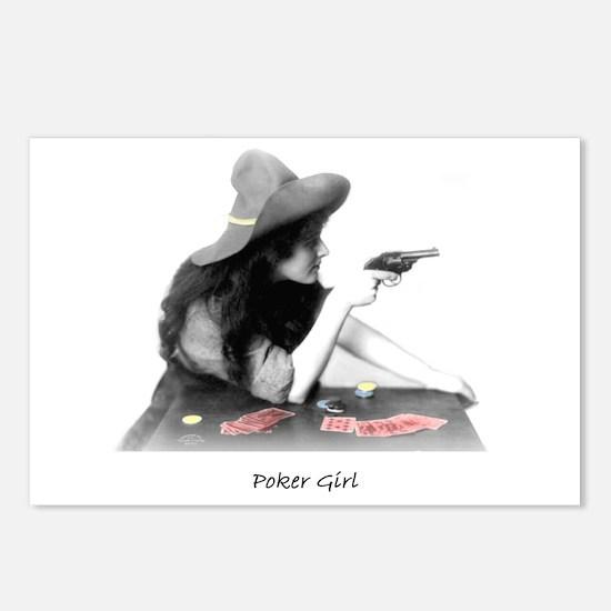 poker girl Postcards (Package of 8)