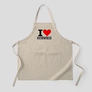 I love Schweiz - Switzerland BBQ Apron
