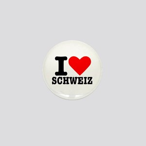 I love Schweiz - Switzerland Mini Button