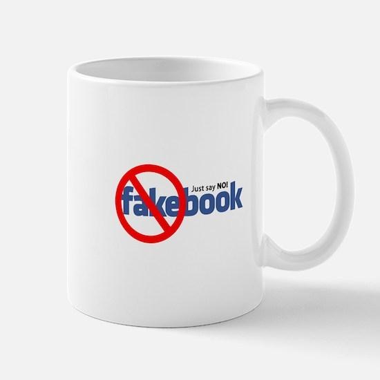 """""""Just say NO"""" Fakebook Mug"""