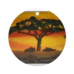 African Savannah Ornament (Round)