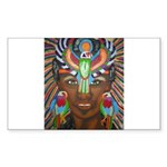 Hawk Goddess Rectangle Sticker 50 pk)