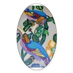 Exotic Birds Oval Sticker (50 pk)