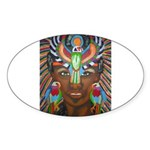 Hawk Goddess Oval Sticker